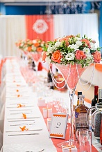 wedding decor orange